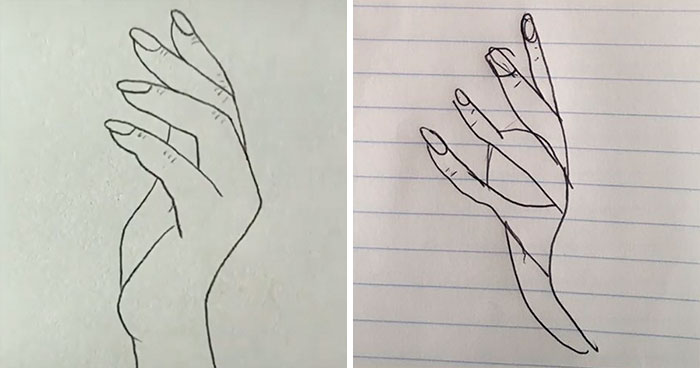People Are Trying To Follow A Viral Hand-Drawing Tutorial, And They're Failing So Bad, It's Good (24 Pics)
