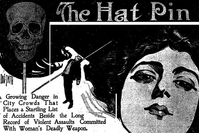 20th-Century Women Protected Themselves From Sexual Predators With Hatpins And Men Tried To Ban Them