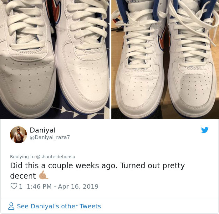 Woman Shows A Method To Remove Creases From Your Sneakers, People Try It And Post Their Before & After Results
