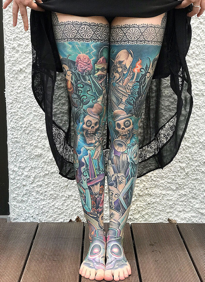 2 Years Healed Corpse Bride And Nightmare Before Christmas Leg Sleeves