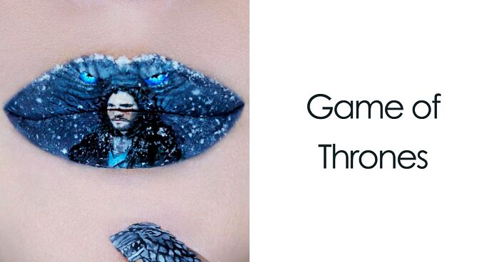 Makeup Artist Uses Her Lips As A Canvas To Create Pop Culture Inspired Masterpieces 60 Pics Bored Panda