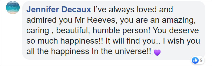 Keanu Reeves Admits He's A Lonely Guy (Update: Rep Disproves This As