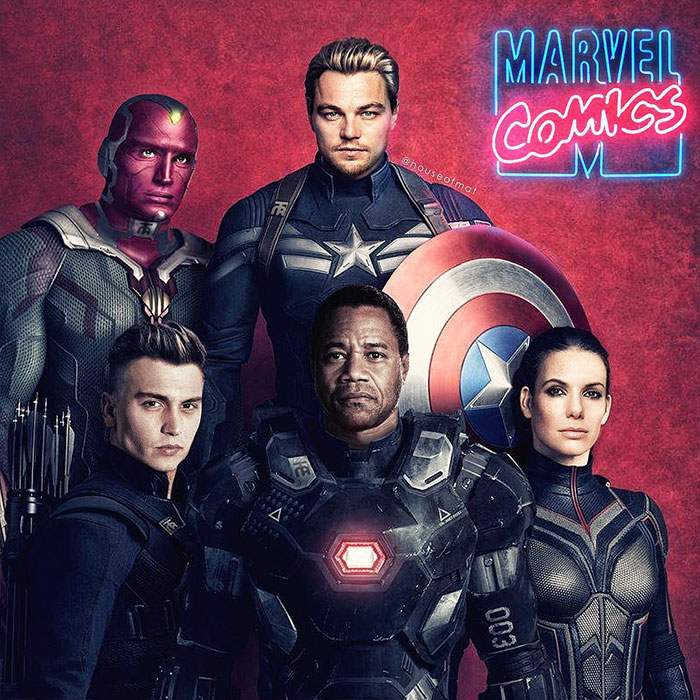 Artist Imagines What Avengers Cast Would Have Looked Like If It Was