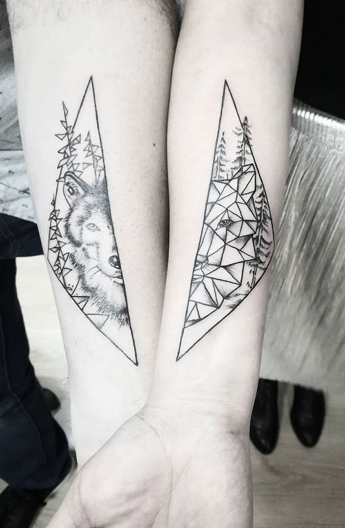 30 Matching Tattoos That Are As Clever As They Are Creative Bored Panda