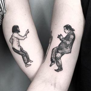 30 Tatuajes a juego tan ingeniosos como creativos