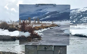 30 Landscape Paintings Framed By Nature And Aaron Schuerr