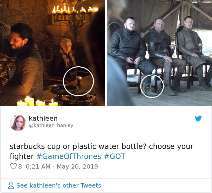 From A Coffee Cup, To Multiple Water Bottles, Game Of Thrones Gets Caught Failing Again