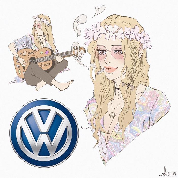 Popular-Brands-Characters-Illustrator-Sillvi