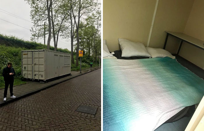 Man Arrives In Amsterdam Only To Find Out His Airbnb Is Actually A Shipping Container