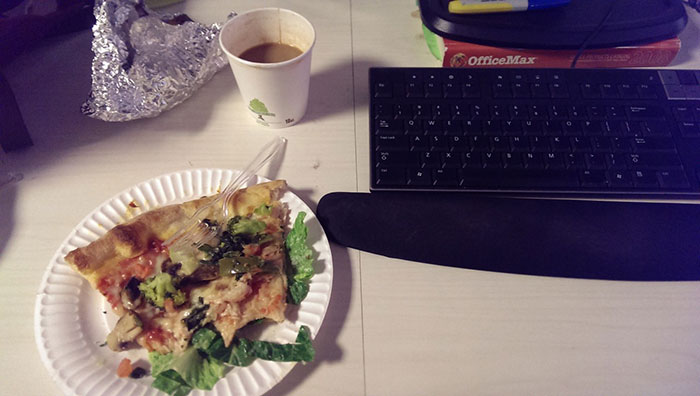 If Pizza Sits On Top Of A Bed Of Wilted Lettuce, It's Pretty Much A Salad