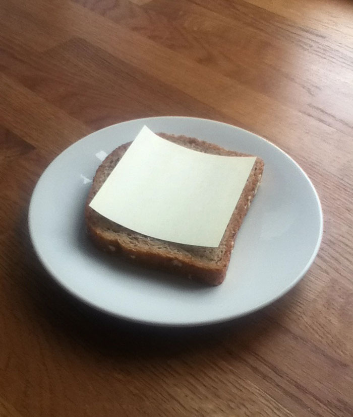 Office Gastronomy, 2013 - Slice Of Bread, Post-It