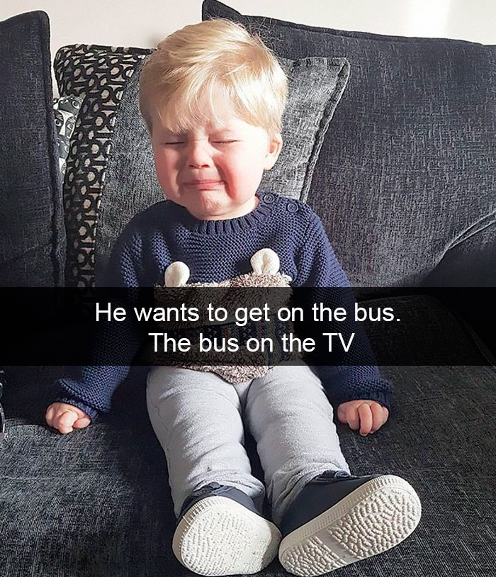 He Wants To Get On The Bus. The Bus On The TV
