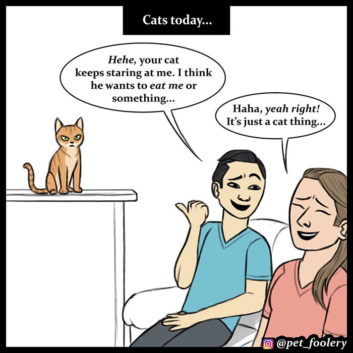 The Differences Between Prehistoric And Today's Cats Explained In A Hilarious Comic