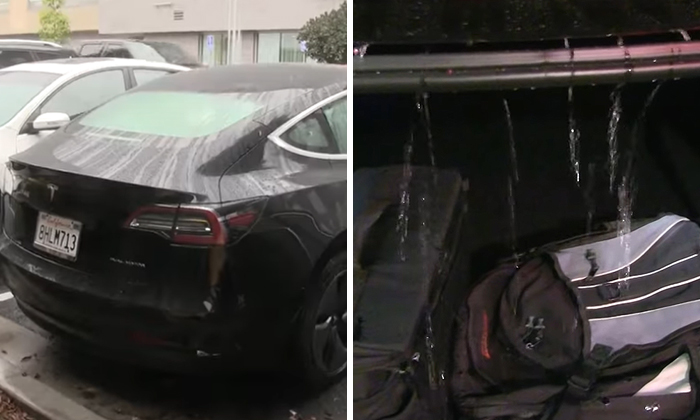 Tesla, World's Most Innovative Car, Leaves The Most Absurd Flaw In Their Design That Leaves Your Trunk All Wet