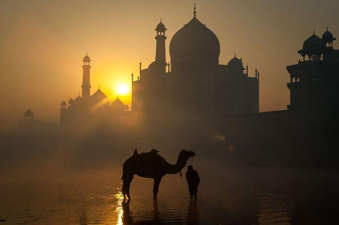 Sunrise Behind The Taj Mahal, John O., Cities