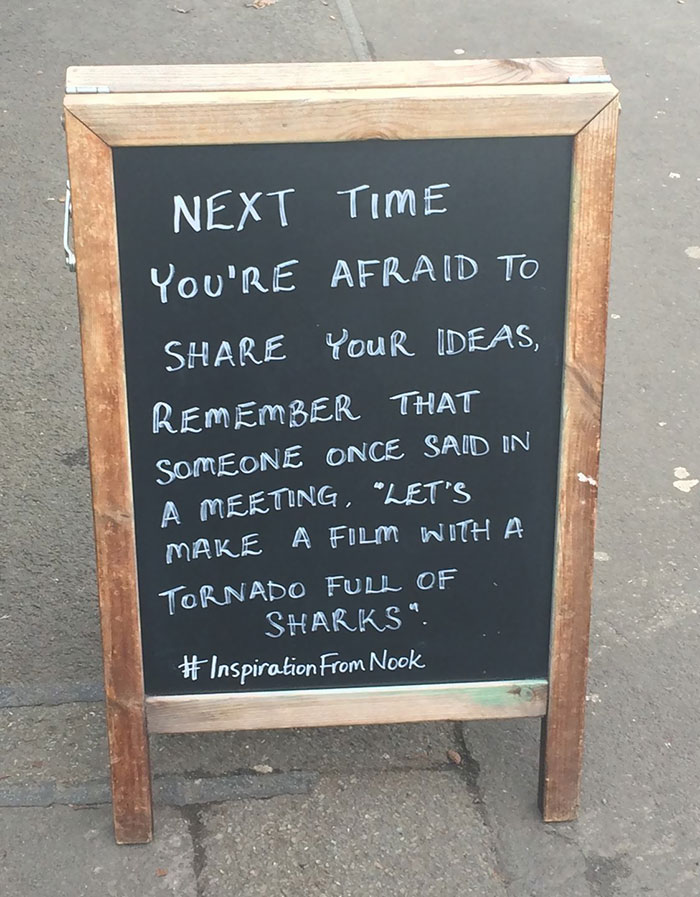 Found Outside A Cafe