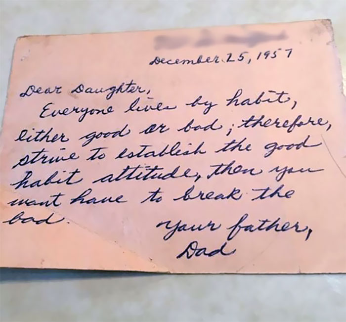 Wise Words My Grandpa Wrote To My Aunt Almost 60 Years Ago