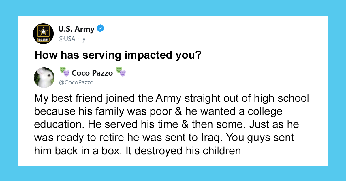 These 33 Responses To U.S. Army Asking 'How Has Serving Impacted You?' Show How Terrible It Can Be