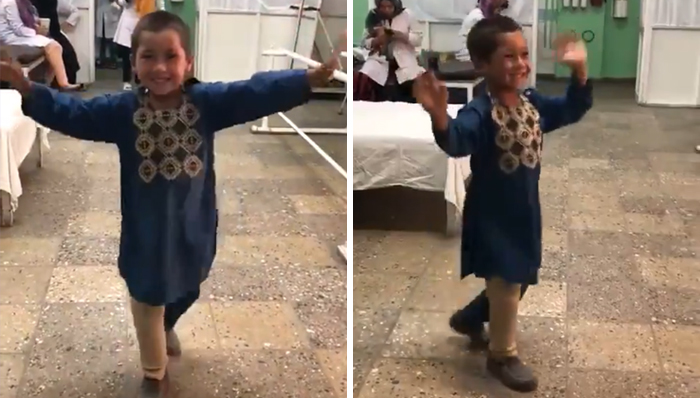 This 5-Year-Old Afghan Boy Dances With Joy After Getting A New Prosthetic Leg And Its Heartwarming