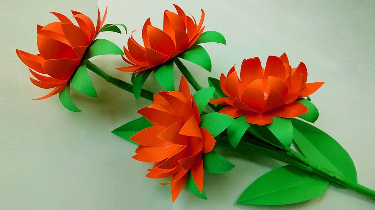 DIY Paper Flowers Making Handmade Crafts