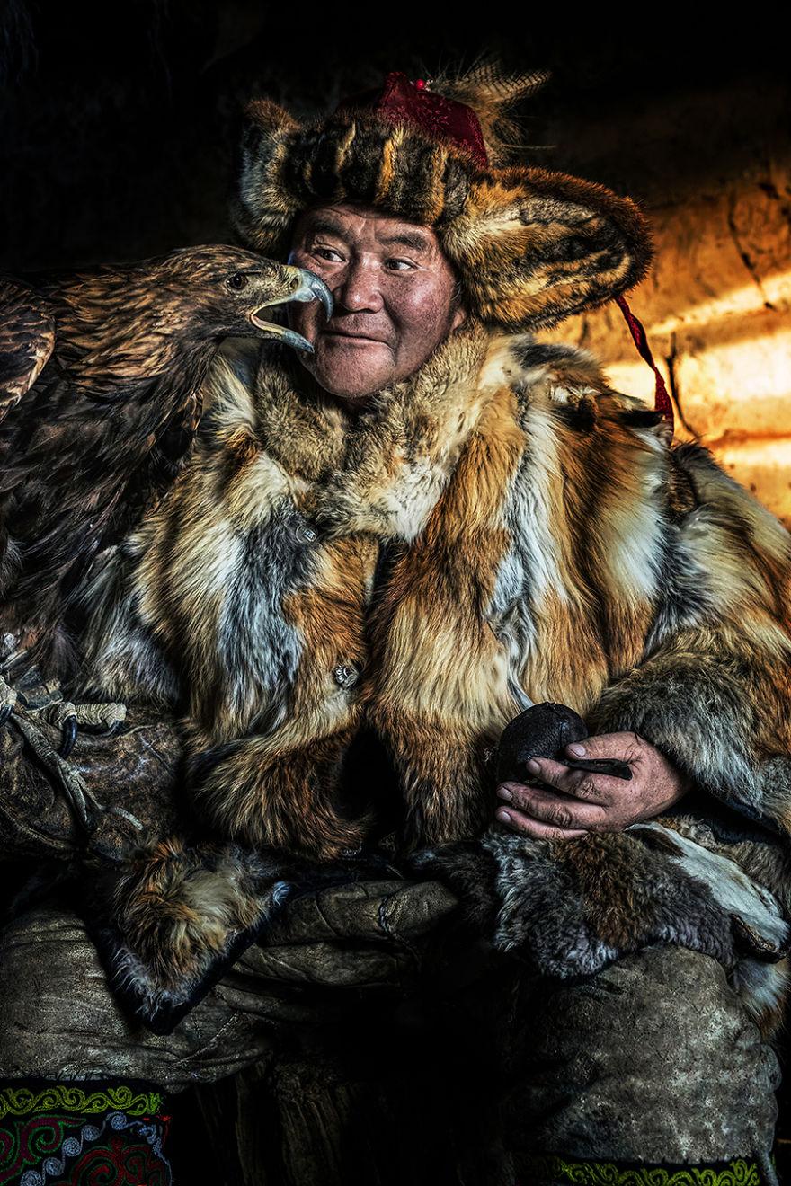 Mongolian Kazakh Man; Targyn, Bayan-Ölgii, Western Mongolia