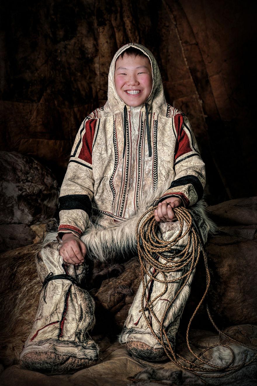 Nganasan Boy; Dudinka, Taimyr Peninsula, Arctic Siberia