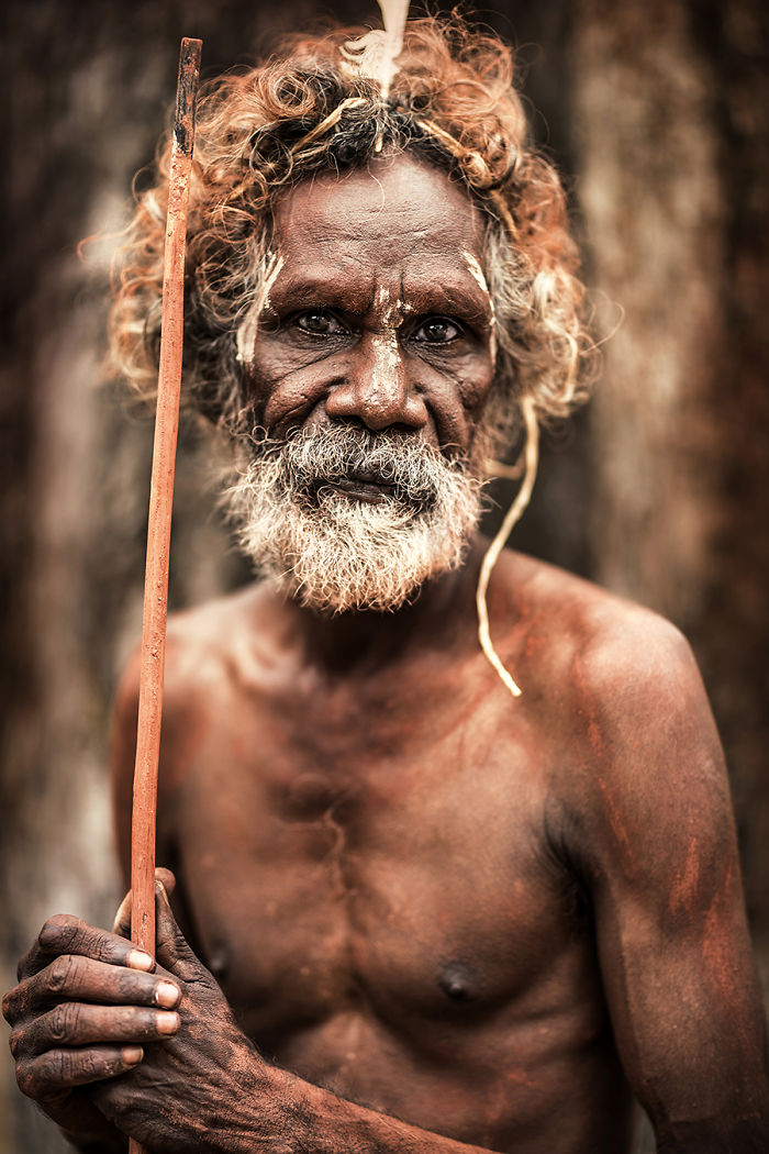 Aboriginal Man; Pormpuraaw, Gulf Of Carpentaria, Cape York, Australia