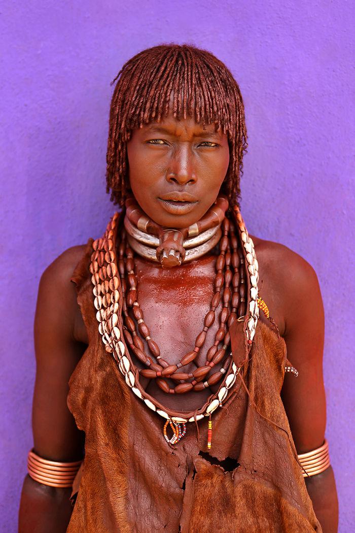 Hamar Woman; Turmi, Debub Omo, South West Ethiopia