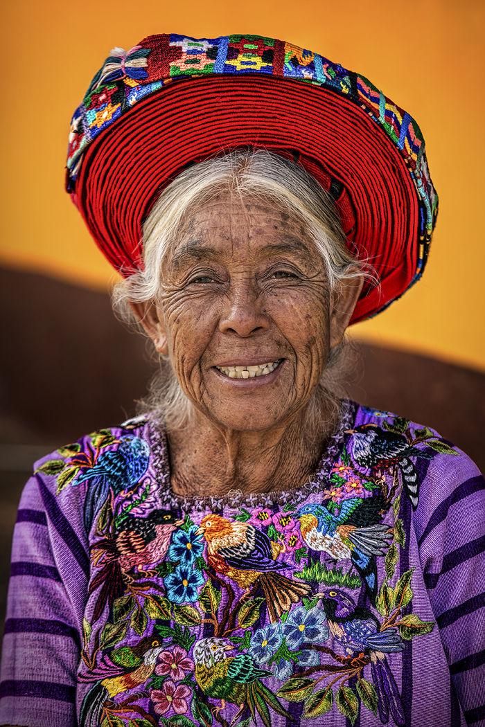 Tz'utujil Woman; Lake Atitlán, Guatemalan Highlands, Guatemala
