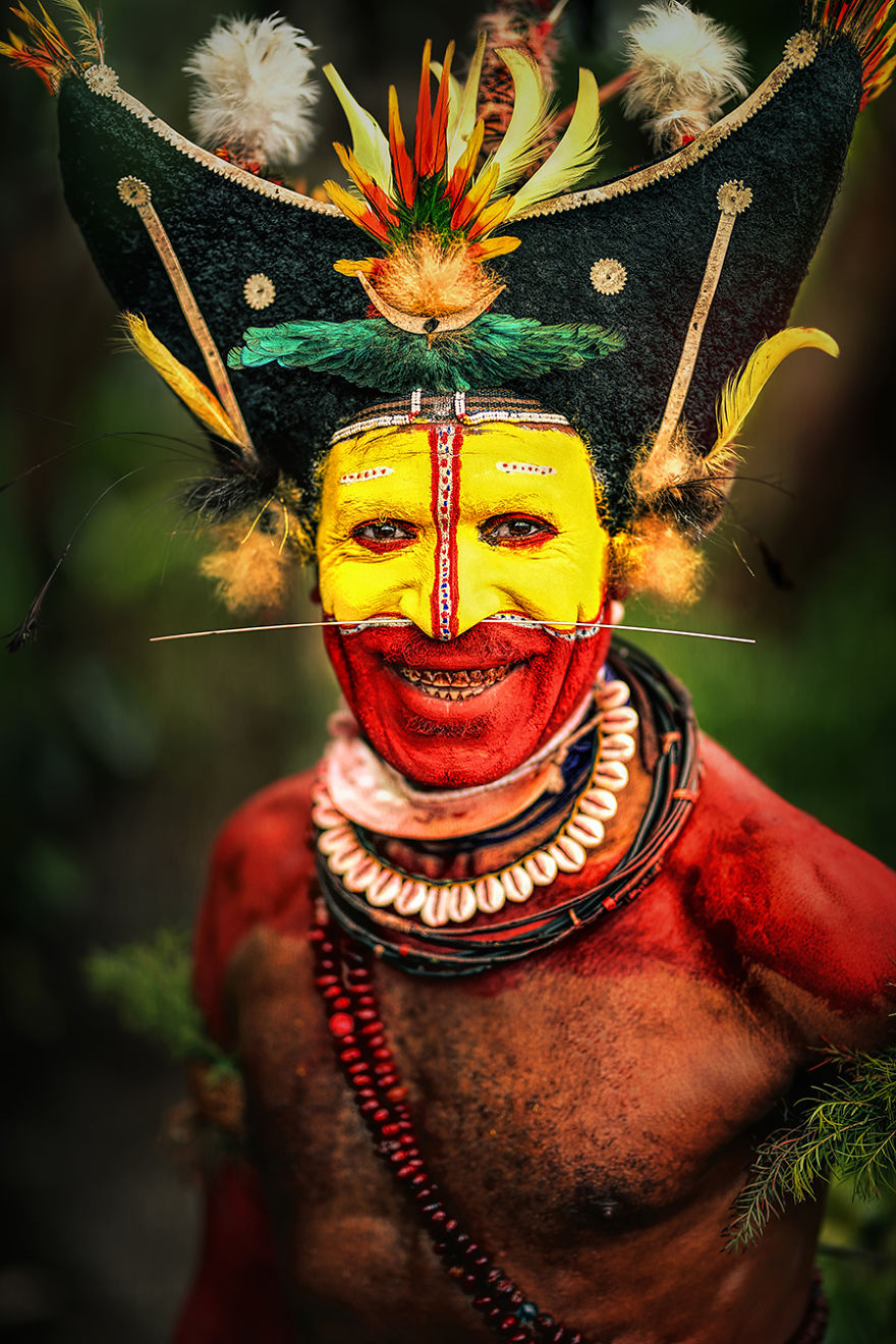 Huli Man; Tari, Hela Province, Papua New Guinea
