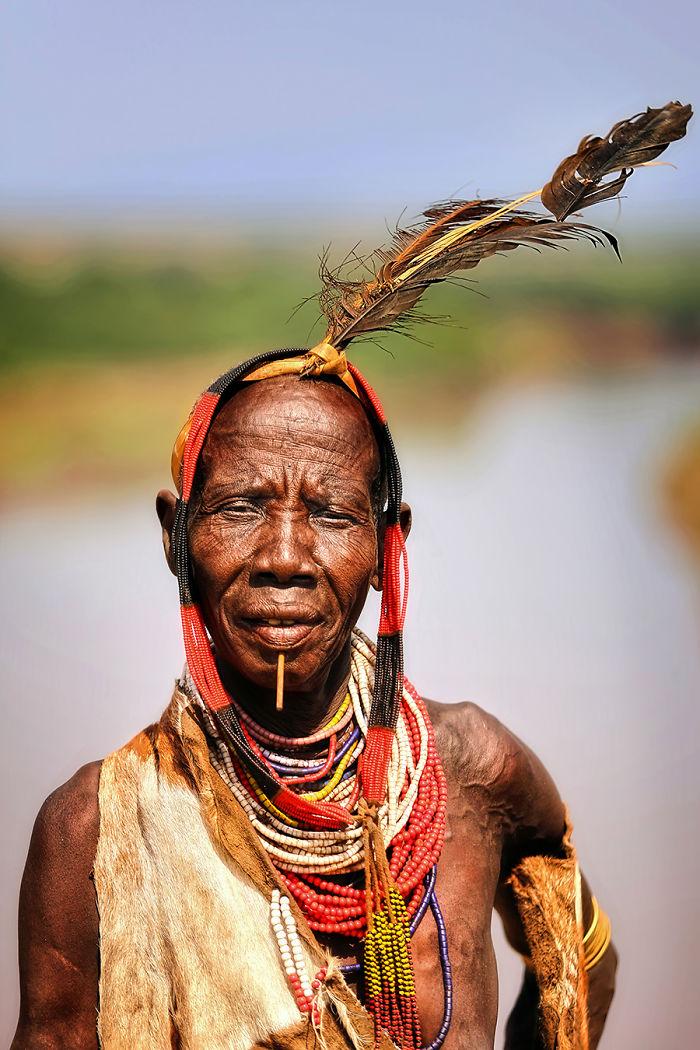 Karo Woman; Omo River, South West Ethiopia