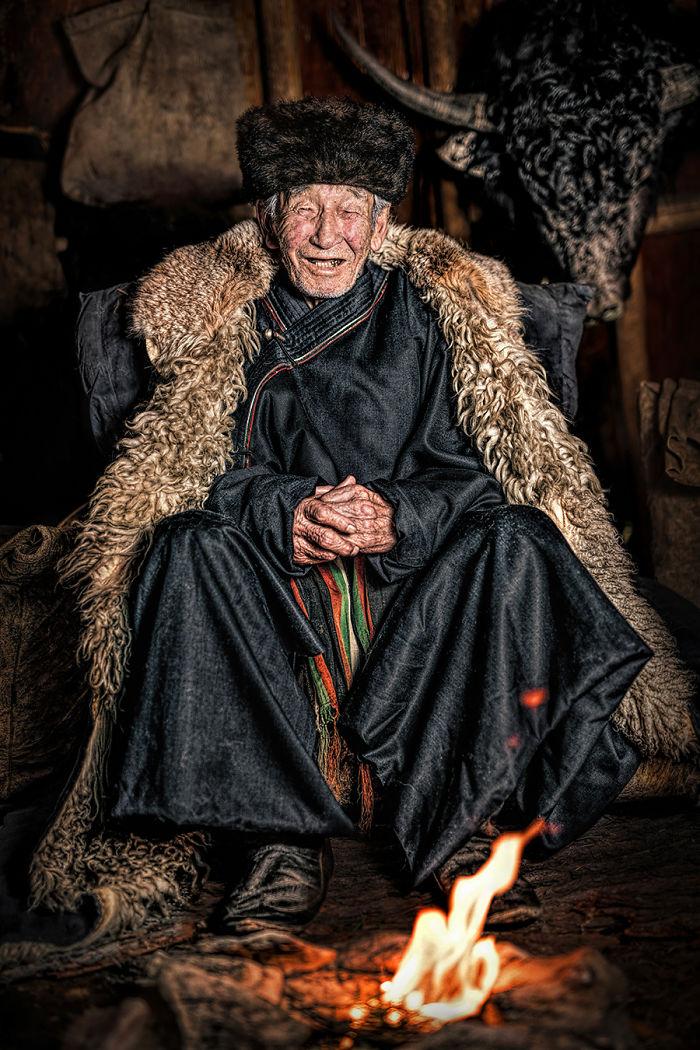 Soyot Man; Oka River, Buryatia Republic, South East Siberia
