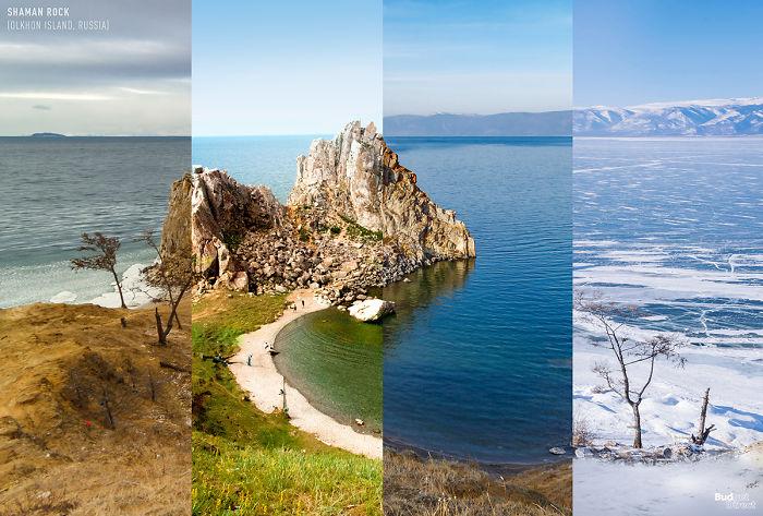 Shaman Rock (Olkhon Island, Russia)