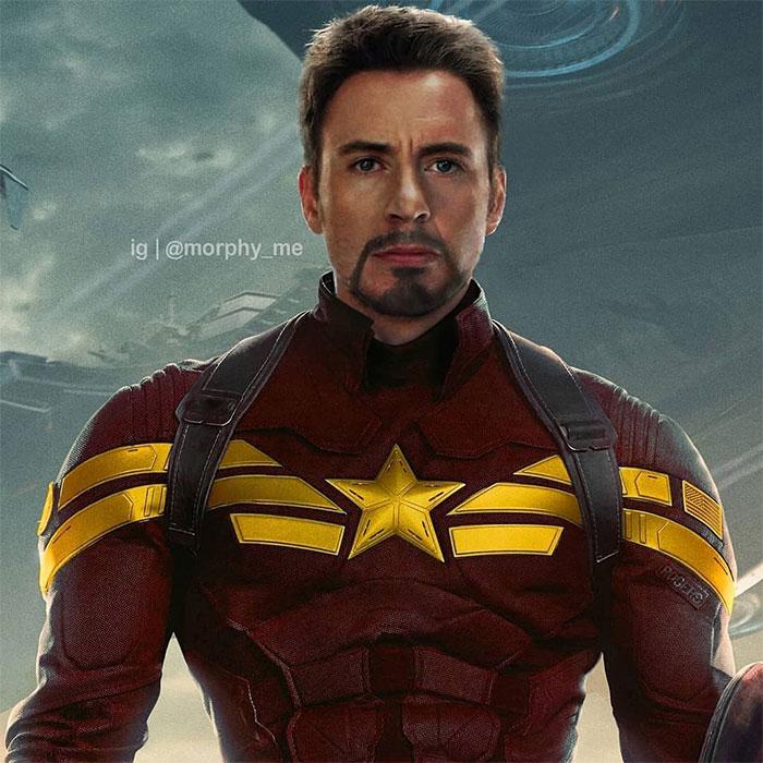 Chris Evans (Captain America) And Robert Downey Jr. (Iron Man)