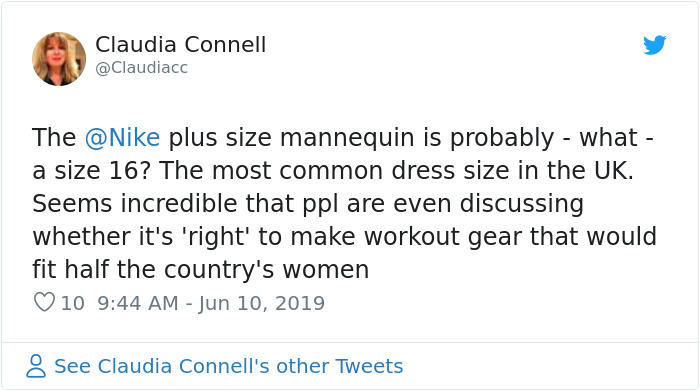 A Nike Store In London Received Backlash After Installing Plus Size Mannequins