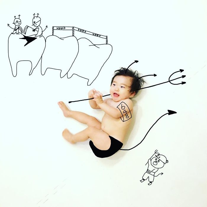 This Father Mixes Drawings And Photos To Create A Fantasy World For His Children