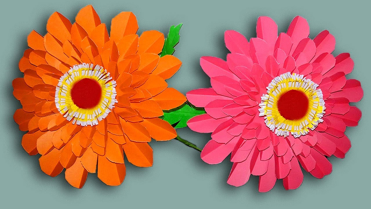How To Make A Beautiful Flower With Paper