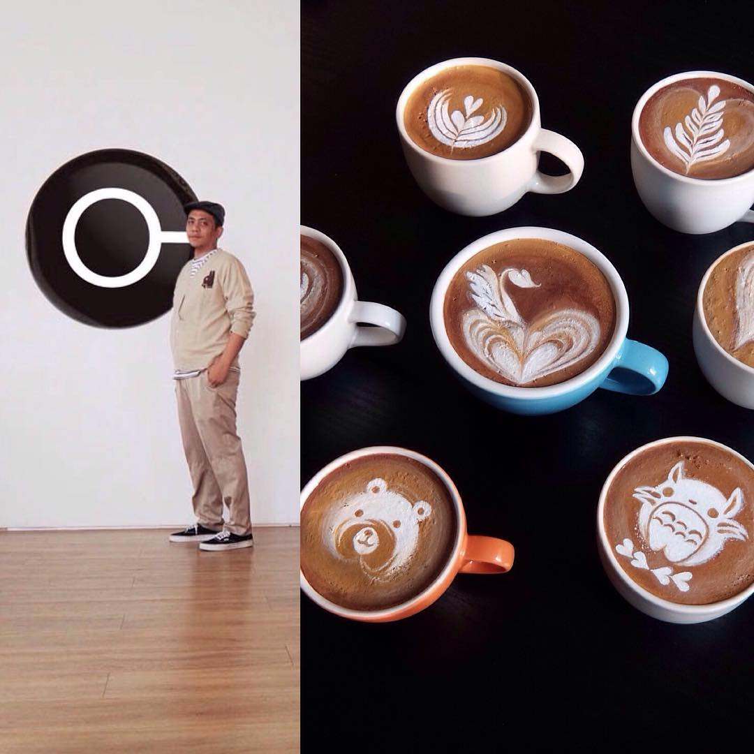Replica Coffee Latte Art By Baristatoday