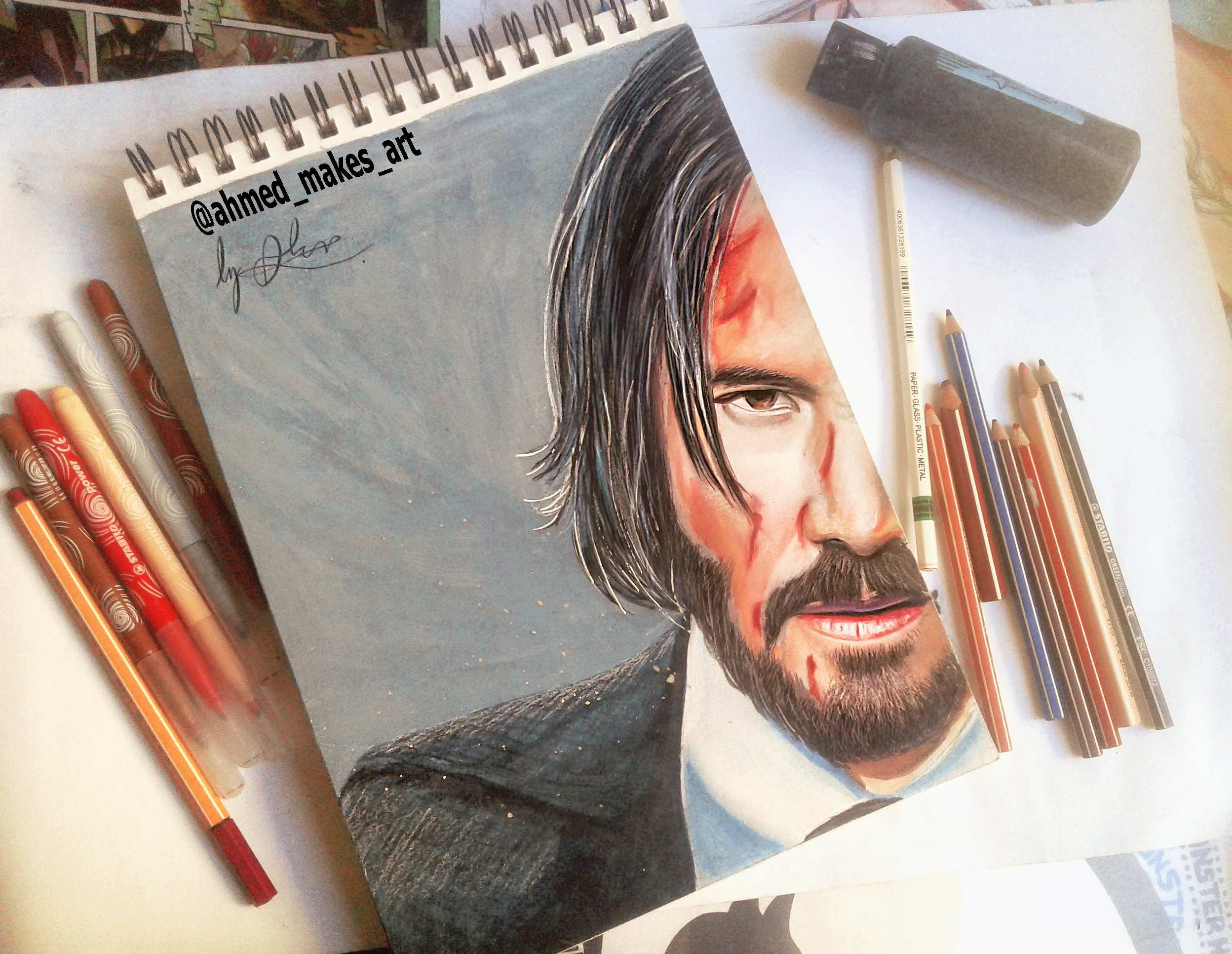 This John Wick Drawing Took Me A While