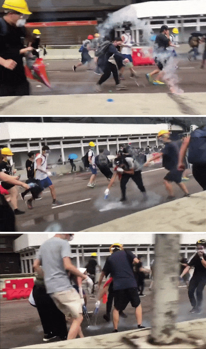 These Hong Kong Protesters Run Around Putting Out Fires Instead Of Starting Them