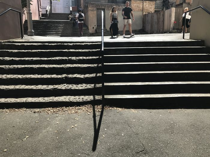 Stairs Built In 1829 vs. 2005