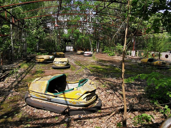 Visited Chernobyl. The Overgrown Amusement Park Of Pripyat!