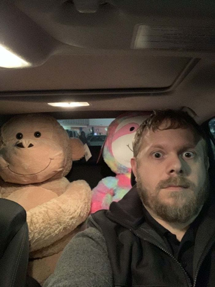 I Didn't Realize My Wife Left The Kids' Presents In The Car Until I Checked The Rear View Mirror