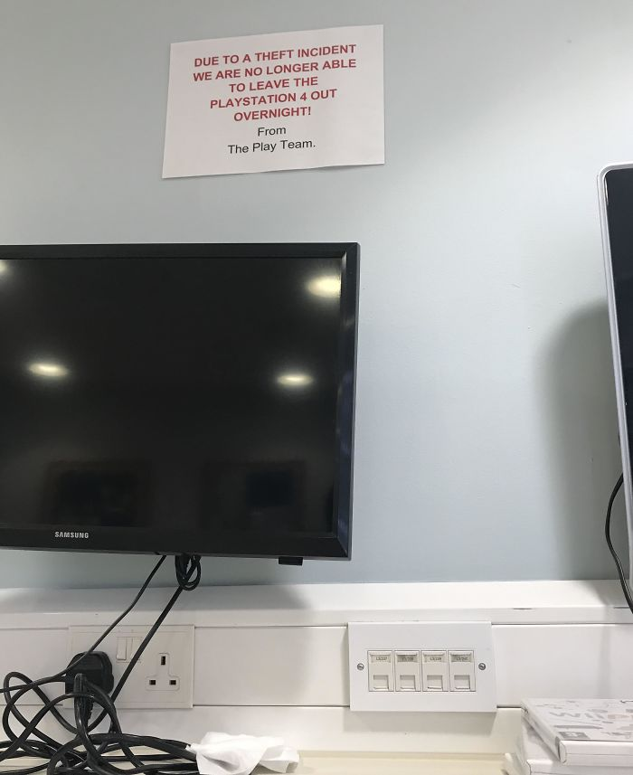 Someone Stealing A Ps4 From A Kids Hospital