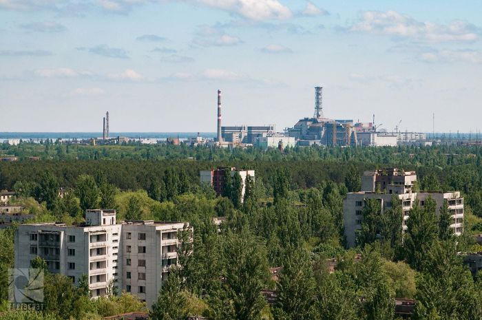 Looking At The Chernobyl Power Plant From Pripyat