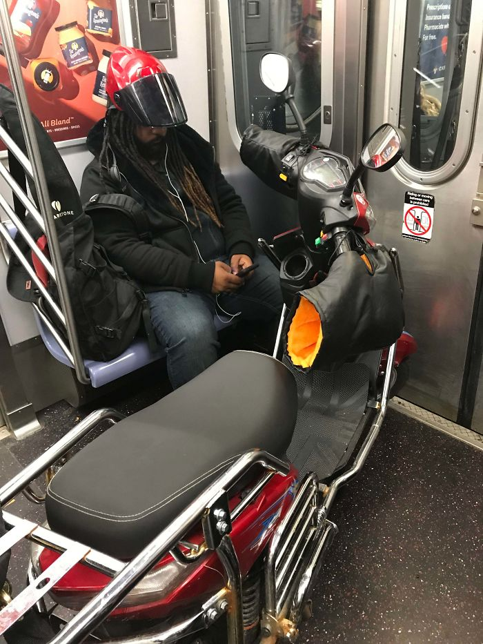 You Know When Manhattan Traffic Is Busy When It's Quicker To Take Your Bike On NYC Subway Than Ride It