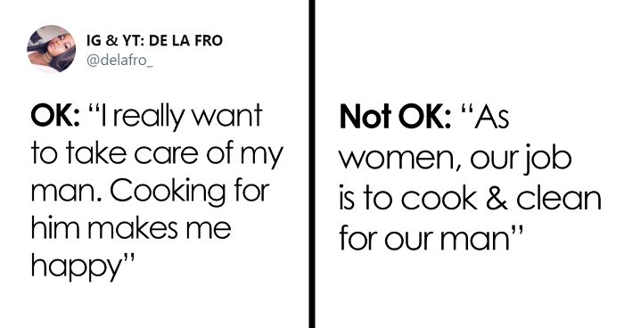 Woman Shares Things That Are OK And Not OK To Say To Other Women That Live Different Lives