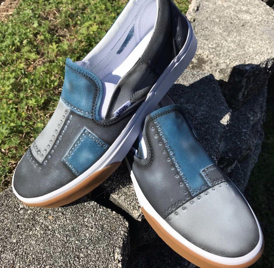I Create Custom Painted Shoes