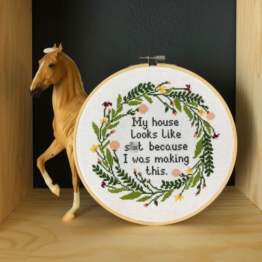 19 Modern Cross Stitches That Are Inappropriate But Fabulous! And Hilarious Too