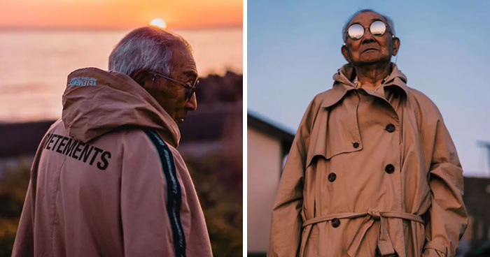 Grandson Decides To Get His 84-Year-Old Grandpa A New Wardrobe And Makes Him An Instagram Star